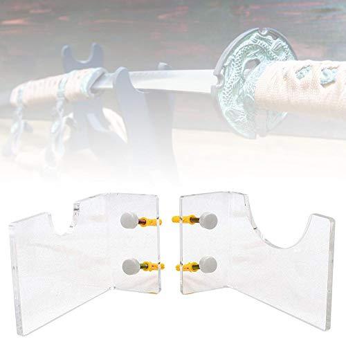advancethy Horizontale Lichtschwert-Halterung für Lichtschwert, transparent, Wandhalterung, Hakenständer, kompatibel mit jedem Lichtschwert-Display – Befestigungsmaterial im Lieferumfang enthalten