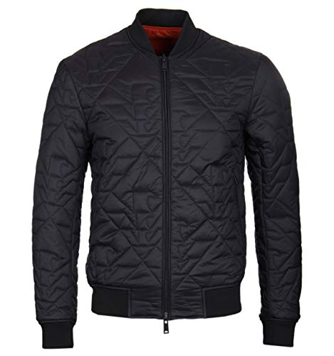Emporio Armani Eagle Pattern - Reversible Black & Orange - Bomberjacke