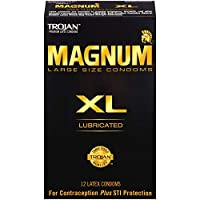 Trojan Magnum XL Lubricated 12 count コンドーム 海外直送品