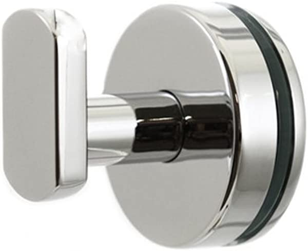Preferred Bath Accessories PC2000GM Anello Collection Glass Mounted Robe Hook Polished Chrome