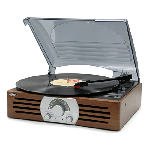 Jensen JTA-222 3 Speed Stereo Turntable with AM/FM Stereo Radio Consumer Portable Electronics/Gadgets