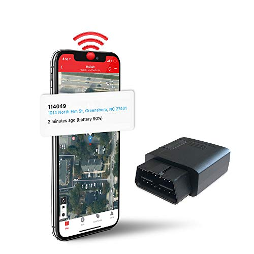 Logistimatics 4G OBD Tracker for Vehicles Including Real-time Location/Speed/Geofence Alerts with No...