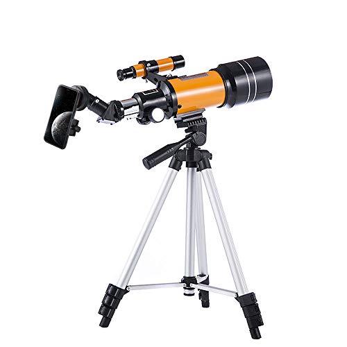 天体望遠鏡 セット 子供 初心者 屈折式 スマホ撮影 70mm大口径 150倍 焦点距離300mm 日本語説明書付き