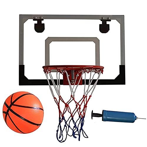 BaiHogi Mini aro de Baloncesto, aro de Baloncesto Interior de Pared y Conjunto de tableros, con una Bola y una Bomba Manual, Utilizada para niños y Juegos de Dunk de Slam de Adultos