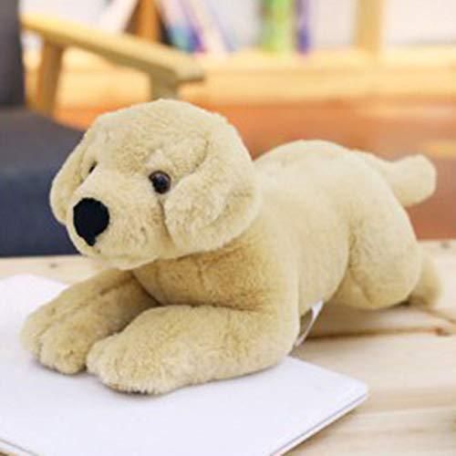 Ashley GAO Labrador perro simulación perro muñeca peluche juguetes bebé comodidad almohada suave felpa regalos niños perro muñeca