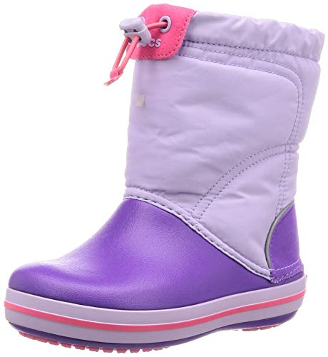 Crocs Crocband LodgePoint Boot Kids, Unisex - Kinder Schneestiefel, Violett (Lavender/Neon Purple 5p8), 22/23 EU