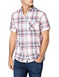 Tommy Jeans Tjm Shortsleeve Check Shirt Camicia, Colore: Bianco/Multicolore, M Uomo