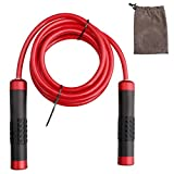 kuou Weighted Skipping Rope, 3M 1LB Heavy Jump Rope Adjustable Speed Ropes For
