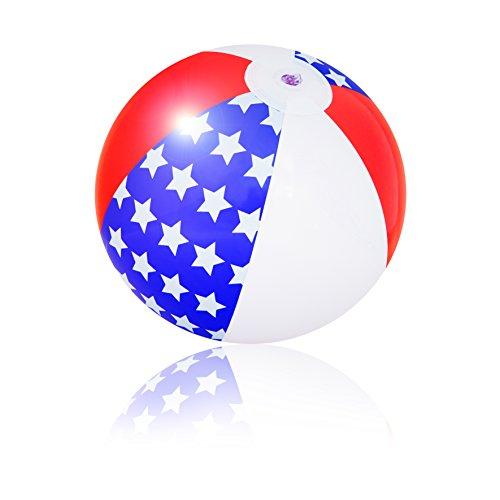 PI-PE Wasserball aufblasbar 29 cm Strandball Weltkugel Atlas Globus Wasserball - tolle Motive - 29 cm (Stars)