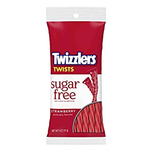 twizzlers sugar free strawberry twists (5-ounce bag) TWIZZLERS Sugar Free Strawberry Twists (5-Ounce Bag) 41jIT4O9 oL