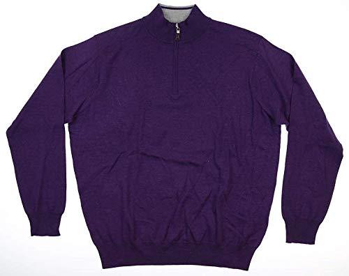 PETER MILLAR New Mens 1/4 Zip Sweater X-Large XL Purple MF19S52