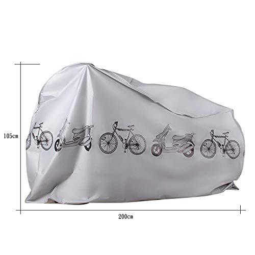 KLAS REMO Fahrradabdeckung wasserdicht Fahrradplane Fahrradhüllen Fahrradschutz Hülle Fahrrad Cover Bike Anti-Staub Abdeckung Hülle für Fahrrad Mountainbike schwarz grau - 2