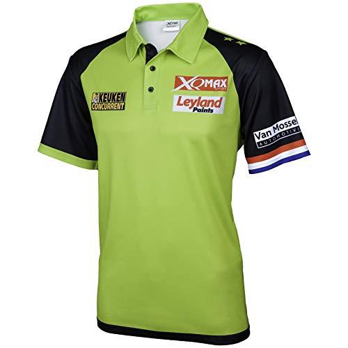 TW24 Poloshirt Michael Van Gerwen für Herren Version 2018 Matchshirt Dartshirt Größe S-XXXL Wettkampfshirt (M)