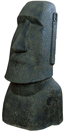 korb.outlet Moai Kopf Steinguss/Gartenfigur Osterinseln Statue 120cm/Skulptur für Haus und Garten (Wetterfest frostfest)