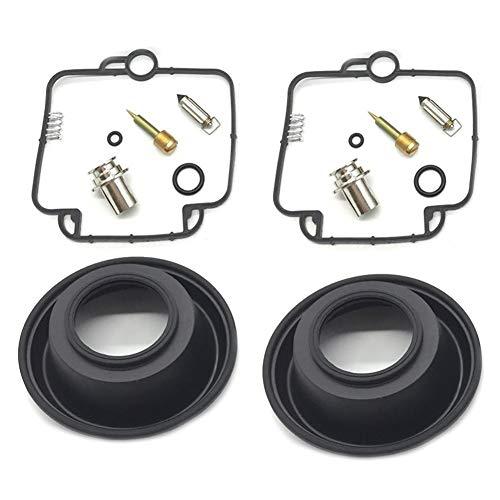 El kit de reparación / reconstrucción del carburad 2 juegos de kit de reparación de carburador Kit Diafragma de émbolo para Suzuki GS500E 1994-2000 GS 500 E Kit de reparación de aleaciones y condones