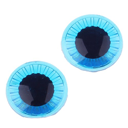 D DOLITY 1 Paar Puppen Augen Pupillen Eye Chips für Middie Blythe Puppen DIY Herstellung - Dunkelblau