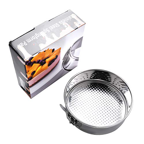 Yoku Made Stainless Steel Springform Pan 7 inch, 7 Inch Cake Pan, 7 Inch Springform Pan, Dishwasher Safe Cheesecake Pan, Accessories Compatible with Instant Pot and other Pressure Cooker of 5 6 qt