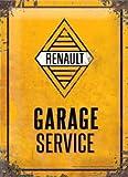 Les Collections Rétro Plaque métal Renault - Garage Service (30x20cm) modèle en Relief