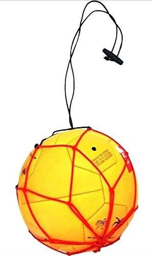 5 Soccer Ball Bungee Elastic Juggling Skill Training Net Handle (Red)