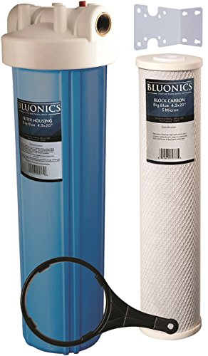 20 inch Big Blue Whole House Water Filter Purifier w/ CTO Carbon Block Cartridge