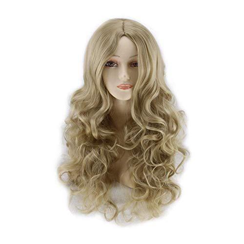 Peluca Wig Harajuku Anime Wig In Light Golden Long Rury Hair Cosplay