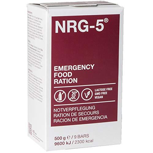 Notverpflegung NRG-5 Glutenfrei Survival 500g Outdoor Notration Notvorsorge Set   2x9 Riegel Survivalnahrung Expeditions Grundausstattung wie EPA