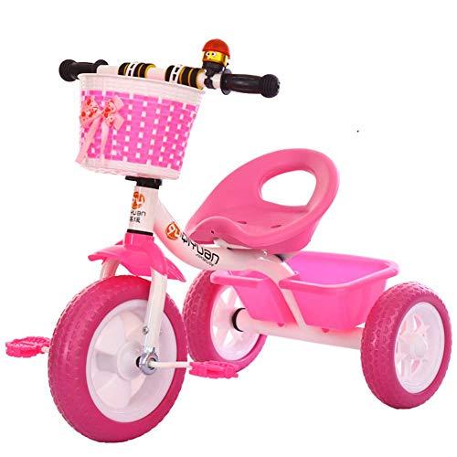 L.TSN Kinder Balance Reiten Dreirad Sommer Baby Sport Fitness Mode Dreirad Fahrrad Pedal Fahrt auf Jungen Mädchen Kleinkind Für Kinder im Alter von 2/3/4/5/6 Jahren, Pink