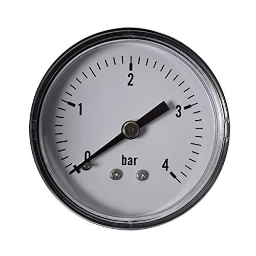 HELO 0-4 bar Manometer waagerecht, Ø 50 mm, Druckluft Manometer/Vakuummeter 1/4