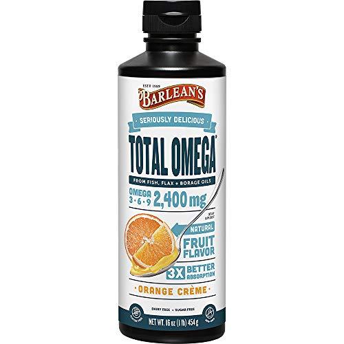 Barlean's Seriously Delicious Total Omega, Orange Crème, 16-oz (0705875000277)