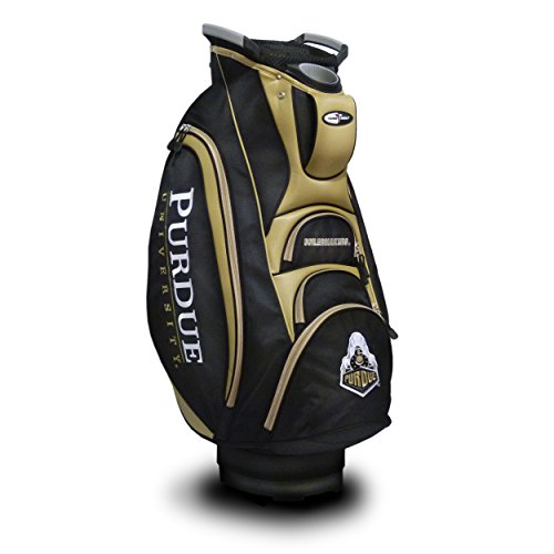 Team Golf NCAA Purdue Boilermakers Victory Golf Cart Bag, 10-Way Top with Integrated Dual Handle & External Putter Well, Cooler Pocket, Padded Strap, Umbrella Holder & Removable Rain Hood