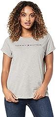 Tommy Hilfiger Round Neck Logo Womens Short Sleeve Camiseta
