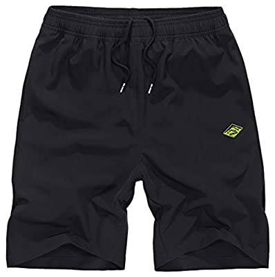 Vcansion Men's Outdoor Lightweight Hiking Shorts Quick Dry Sports Casual Shorts Skateboard Shorts Black Tag 2XL/34-36