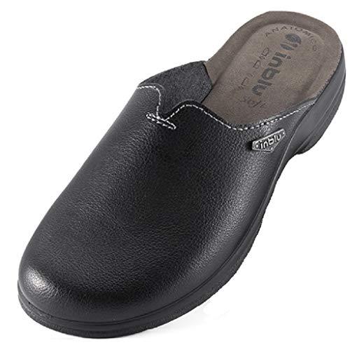 inblu Pantofole Ciabatte da Uomo Invernali MOD. PO-60 Nero (42)