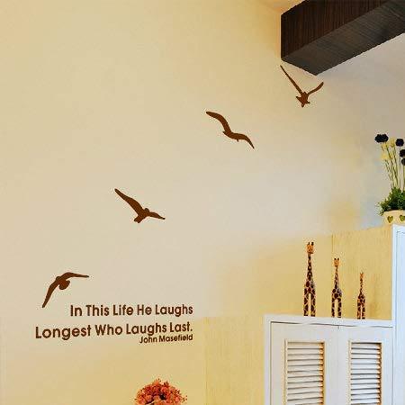 Gaviota volando ave voladora pegatinas de pared Eenvoudige dormitorio sala de Estar Zachte Natuurlijke aacute; Behang Persoonlijke Decoratie español Mano alzada 83 * 110 cm Nuevo MARR oacute; n Medio