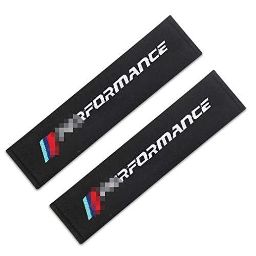 Aishengjia 2pcs Seat Belt Pad AlgodóN con Hombro De Coche Asiento Funda De Seguridad para Performance E46 E39 X5 X6 E36 E90 E91