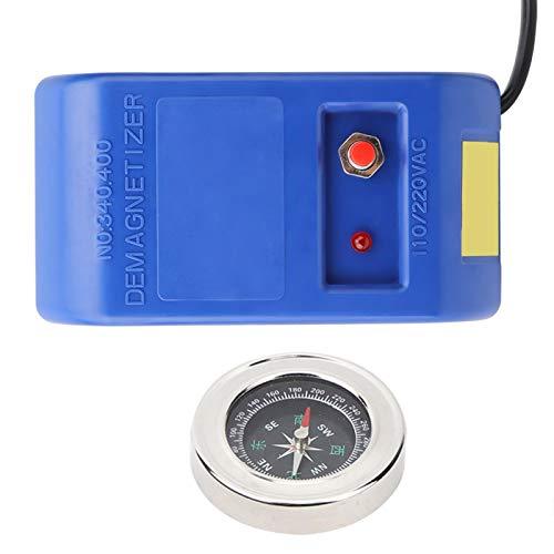 Herramientas de desmagnetización eléctricas + brújula, alta eficiencia, desmagnetizador de reparación de relojes, duradero para reparación de relojes (Transl)