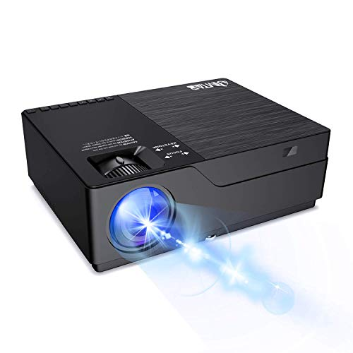 """JIMTAB M18 Native 1080P LED & Video Projector, 4500 Lux HD Projector with 300""""Display Support AV,VGA,USB,HDMI,..."""