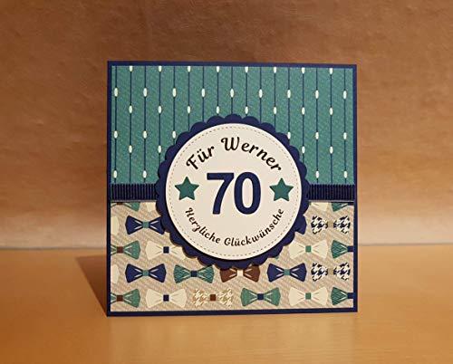 Glückwunschkarte, Geburtstagskarte, Karte zum Geburtstag, Name u. Zahl personalisierbar, Handarbeit