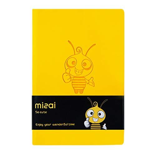 JIABAN Agenda A7 personalizada, cuaderno manual de abeja linda, mini diario, agenda escolar, oficina