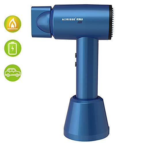 Reise-Haartrockner für Akku Portable Luft Schlag für 30 Min, Professional für Camping Hotel Home School Tierbetreuung Außen Travel Tool (380W),Blau