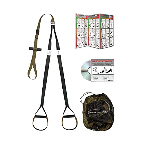 Variosling® Schlingentrainer mit Türanker Military Force Tactical grün kaki - Designed in Germany Suspension Trainer Functional Trainer