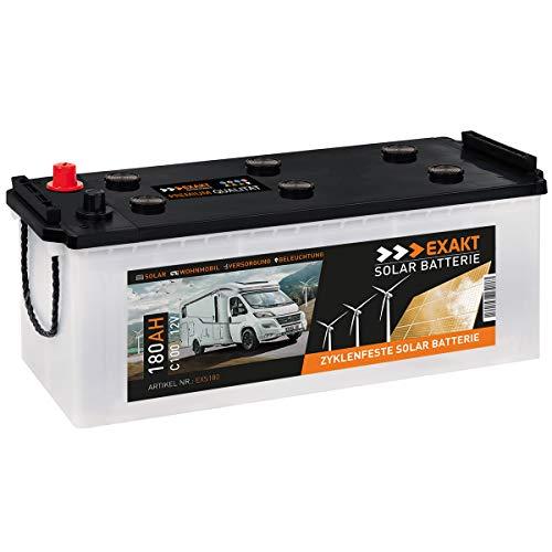 EXAKT Solarbatterie 180Ah 12V Wohnmobil Antrieb Versorgung Boot Mover Photovoltaik Windkraft Batterie (180AH)