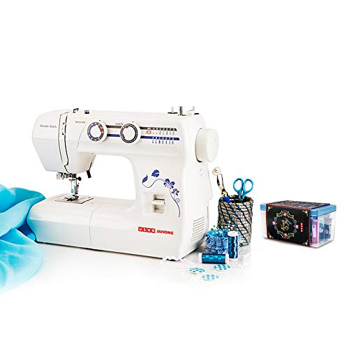 Usha Janome Wonder Stitch Automatic Zig-Zag Electric Sewing Machine (White) with Free Sewing KIT Worth RS 500