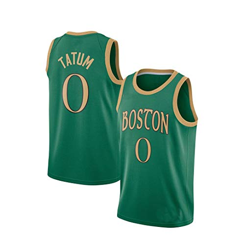 Los Hombres De La NBA Deportes Chaleco Boston Celtics Jayson Tatum # 0 Aficionados Jersey Transpirables Atletismo De Verano Te Floja S-XXL Green-S