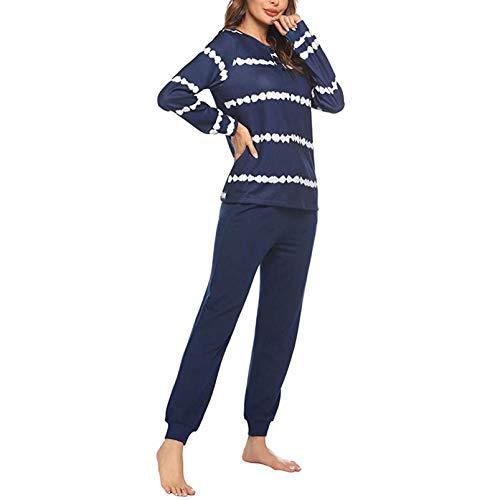 iLPM5 Femme Ensemble De Pyjama 2021 Nouveau Pas Cher Manches Longues Automne Hiver Chaud Peignoirs de Bain Grande Taille Lâche Doux Confortable Point Pyjama
