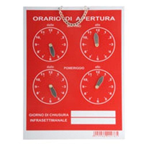CARTELLO ORARIO 4 OROLOGI TEMPOPOL BLU cm 16x21 EAN: 8009984202792