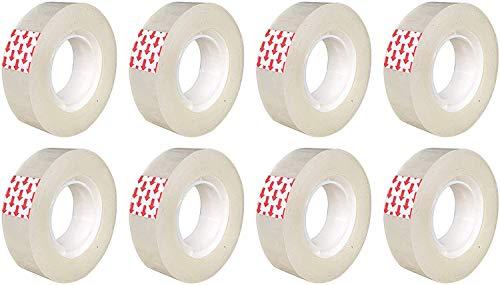 Packatape Cinta Adhesiva transparente 18 mm x 33 m, gran fijación y durabilidad