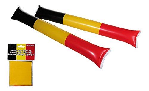 Aufblasbare Klatschstangen Farben Deutschland Belgien 6er Pack
