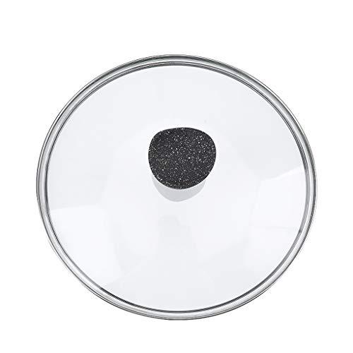 Tapas para sartenes Reemplazo Pan Tapa Transparente Tapa de Vidrio cazo for Adaptarse a Todos cacerolas y sartenes de reemplazo Pot Tapas (Size : 18cm)