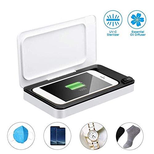 Nicekko Desinfectiebox voor mobiele telefoon, draagbaar, UV-sterilisator, opbergdoos voor mobiele telefoons en apparaten voor het reinigen van horloges
